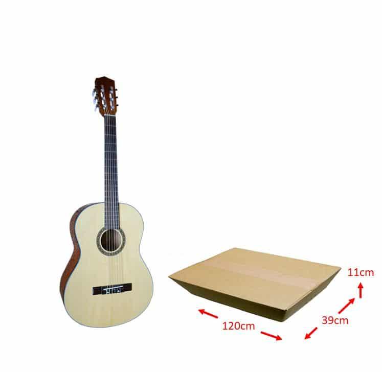 買取を依頼するギターの梱包用ダンボールのサイズ